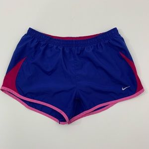 Nike M running shorts blue pink